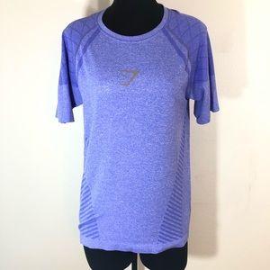 Gymshark Purple Seamless Workout Stretch T-Shirt